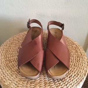 Eric Michael Brown Leather Sandals Size 39